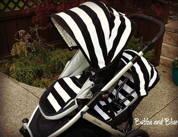 Britax B Ready main seat and booster seat liners by bubbaandblue, love the stripes maybe can get just the single seat instead of full set