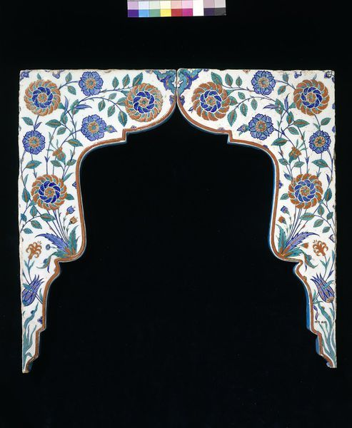 Spandrel tiles  Place of origin: Iznik, Turkey (probably, made)  Date: ca. 1575 (made) This pair of wall tiles was made to frame a small niche in a wall. Niches were often used for storage, in place of furniture. They were also used for the display of objects suggesting refinement, such as a vase of flowers. ...