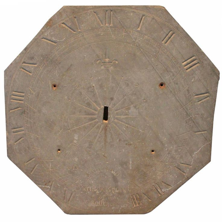 1847 Engraved Slate Sundial | From a unique collection of antique and modern sundials at https://www.1stdibs.com/furniture/building-garden/sundials/