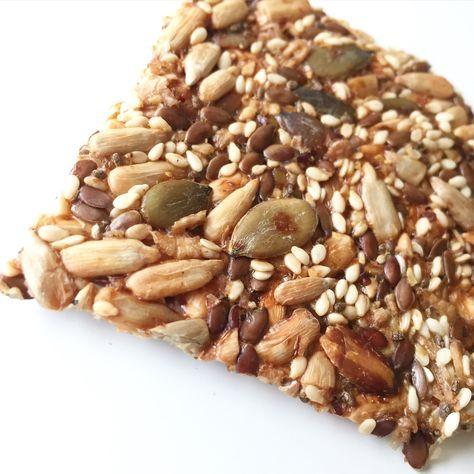 Nå har jeg prøvd meg fram og laget en oppskrift på knekkebrød som ikke inneholder hvete, havre eller rug. Det er uten honning og kan fint lages uten spelt (glutenfritt). Det inneholder knuste linfr…