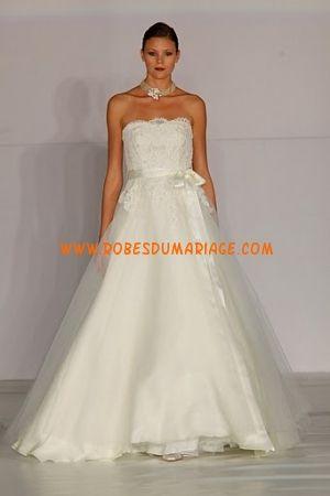 Anne Barge robe de mariée bustier ivoire décorée de ceinture tulle Style 581