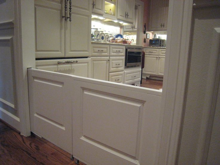 Slide out dog/baby doors. This is the greatest idea EVER.: Idea, Baby Gate, Dutch Door, Dream House, Dog Gate, Baby Door, Half Door