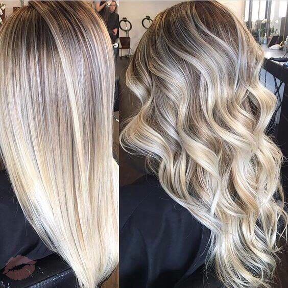 Platinum blonde highlights on dark brown hair the best hair 2017 black hair with chunky blonde highlights pmusecretfo Gallery