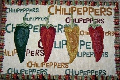 chili pepper decor | CHILI PEPPER PLACEMATS FOR SALE ON EBAY!