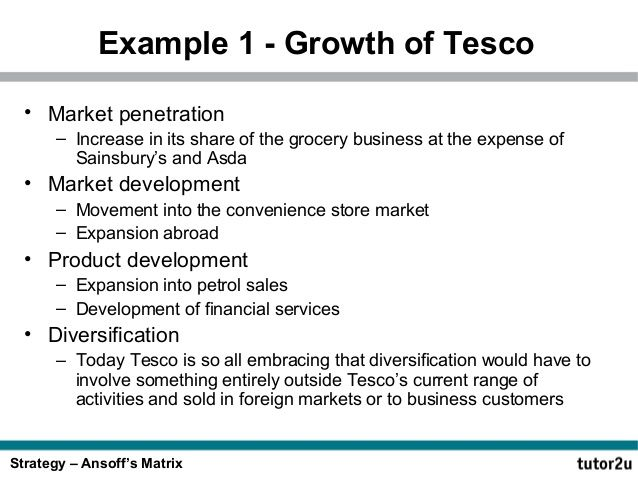 BCG Matrix for Tesco