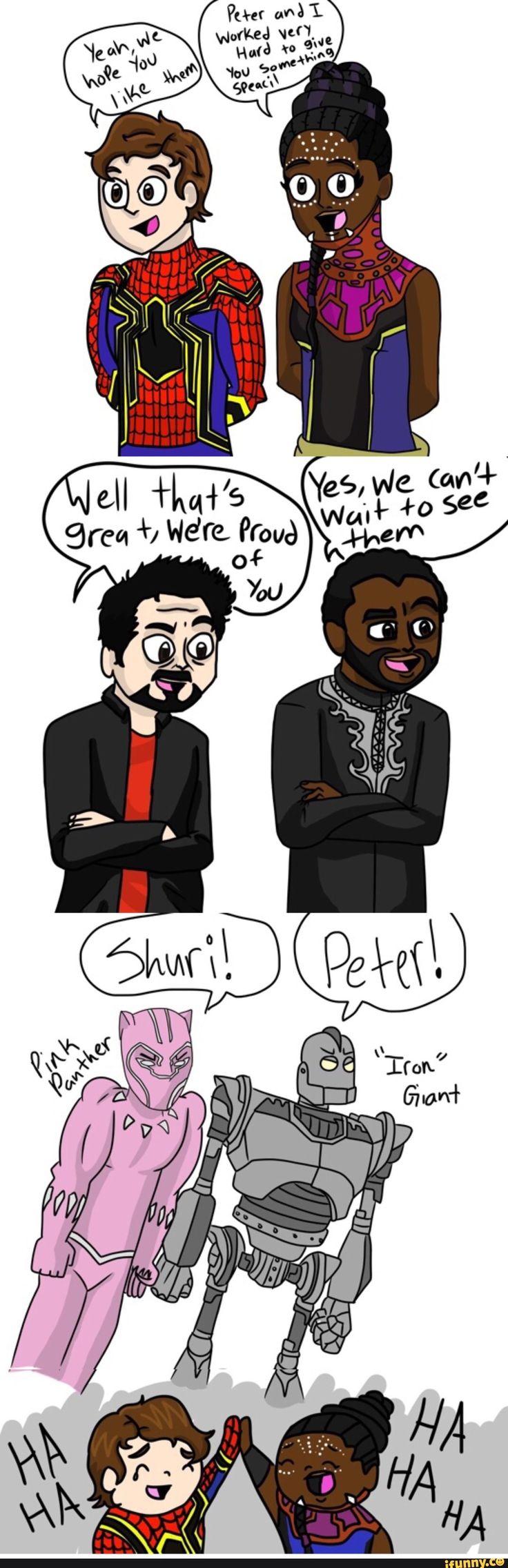 #peterparker, #blackpanther, #shuri, #spiderman, #ironman