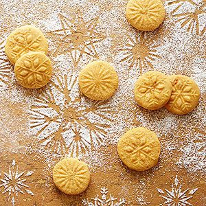 Orange-Saffron Stamp Cookies