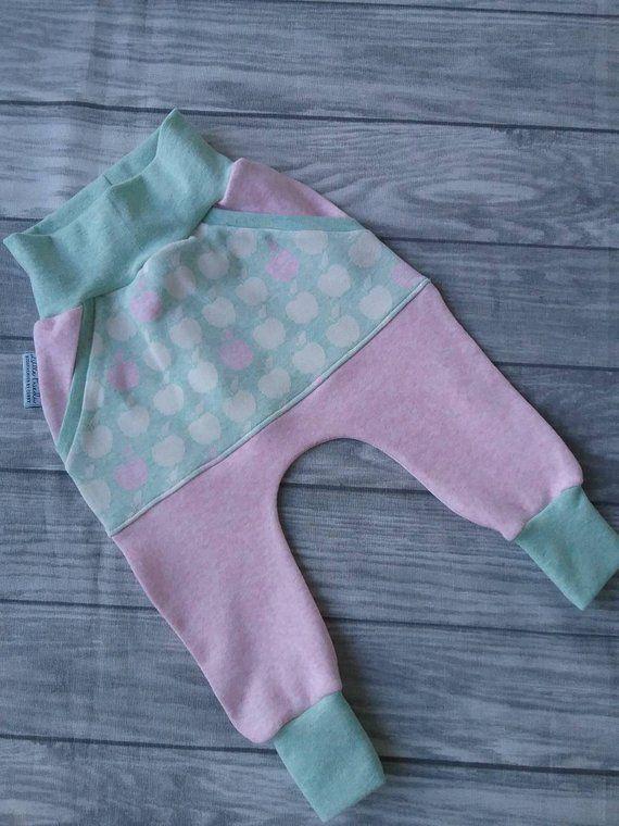 Pumphose Baby Madchen Hose Kinder Mit Apfeln Rosa Mint Babykleidung Baby Girl Pants Newborn Baby Pants Baby Pants