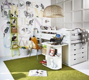 Loftsäng med skrivbord och byrå, Nils från Mio
