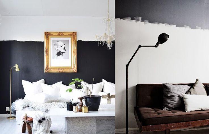 L'ultima tendenza casa in fatto di tinteggiatura è quello delle pareti dipinte a metà!