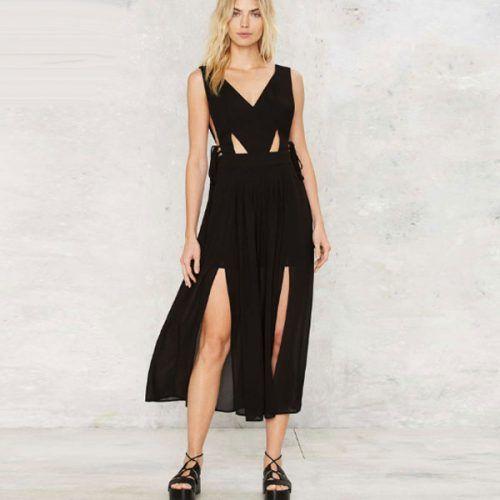 Μακρύ μαύρο φόρεμα με σκισιματα Κωδικός προϊόντος: tumivaki soblob ΓΥΝΑΙΚΑ > ΡΟΥΧΑ > Φορέματα