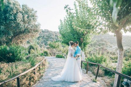 Beautiful back drop for your precious wedding photos at traditional private estate in Crete. MOMENTS www.weddingincrete.com