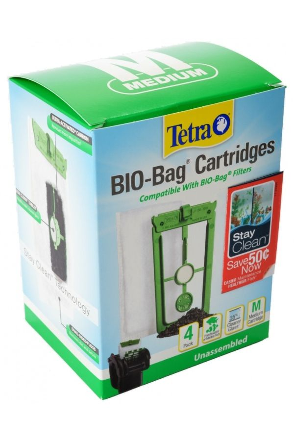 Tetra Bio Bag Cartridges Stay Clean Medium 4 Pack Free Shipping 50 Safe For Freshwater Or Marine Aquariums Whisper Internal External