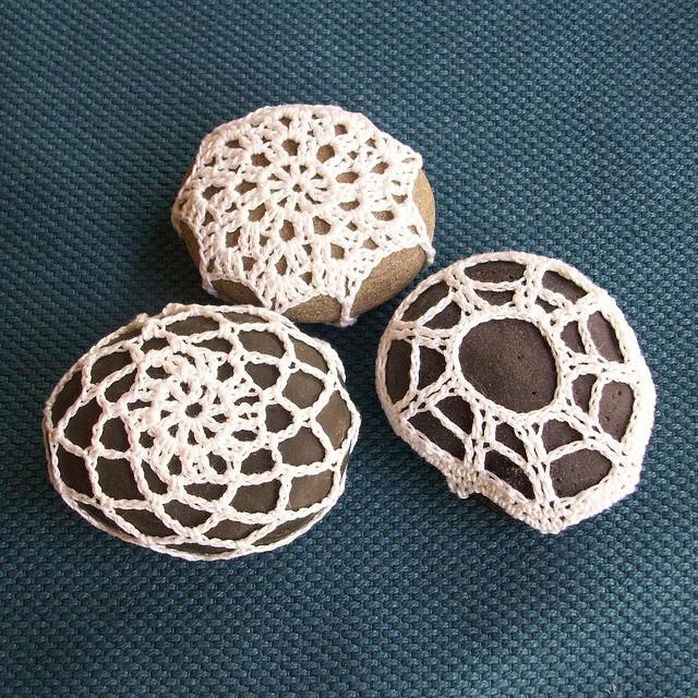 Crocheted rocks
