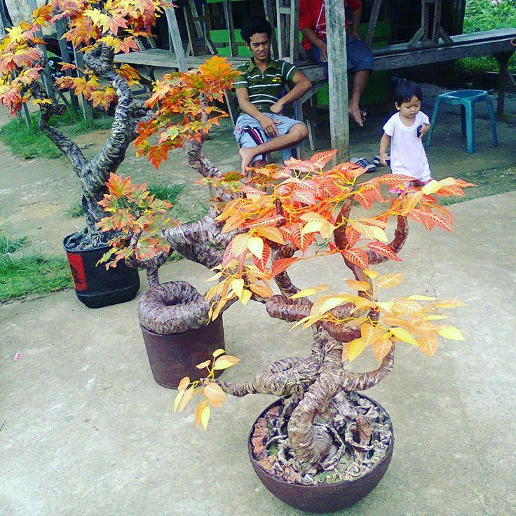 Pohon hias terbuat dari styrofoam yg sdah di keraskan