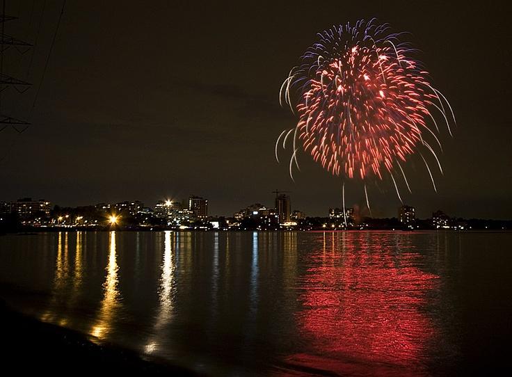 Fireworks over Burlington, Ontario