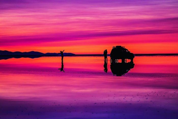 【画像】ため息が出るほど美しい!奇跡の絶景「ウユニ塩湖」