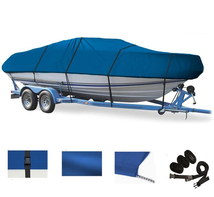 BLUE, GREAT QUALITY BOAT COVER FOR Bayliner 1950 Capri Cuddy 1983 1984 1985 1986 1987 1988 1989