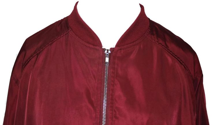 Justify Women's Plus Size Zipper-front Maroon Bomber Jacket Size 3x #Justify #Bomber