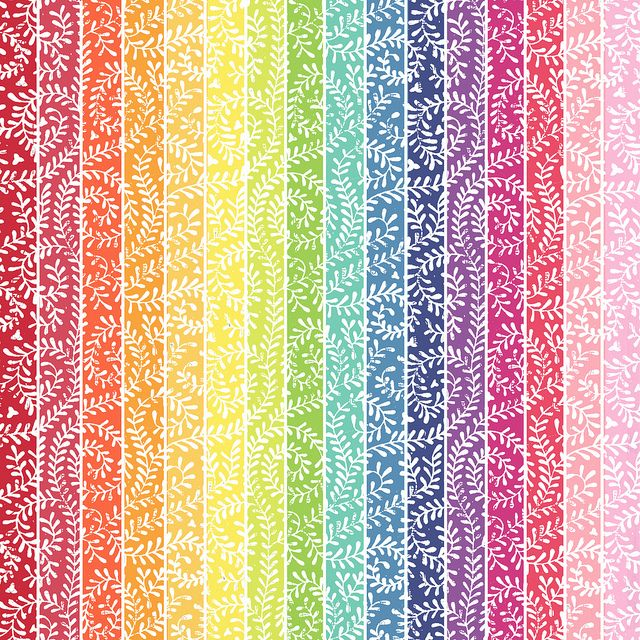 17-rainbow_BRIGHT_VINE_(with white)melstampz_12_and_a_half_inches_SQ_350dpi by melstampz, via Flickr