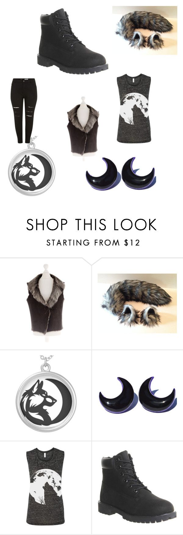 """""""were-wolf - halloween costume #11"""" by rainy-kat ❤ liked on Polyvore featuring Timberland, women's clothing, women's fashion, women, female, woman, misses, juniors, Halloween and moon"""
