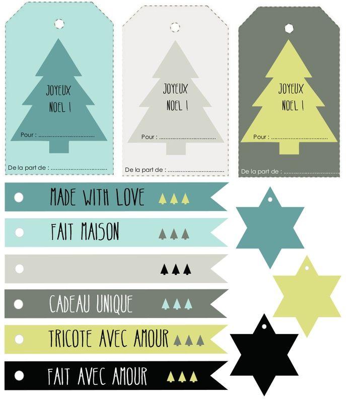 Étiquettes pour cadeaux home made