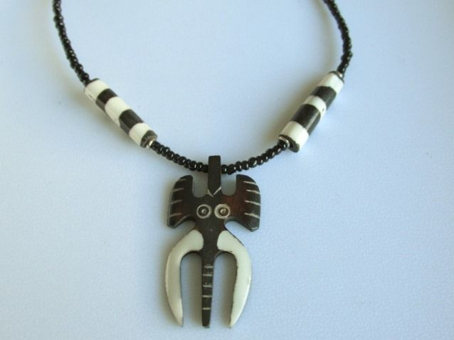 Shared Treasures Boutique - African Bone and Bead Long Tusk Elephant Necklace - (Zulu), $15.99 (http://www.sharedtreasuresboutique.com/african-bone-and-bead-long-tusk-elephant-necklace-zulu/)