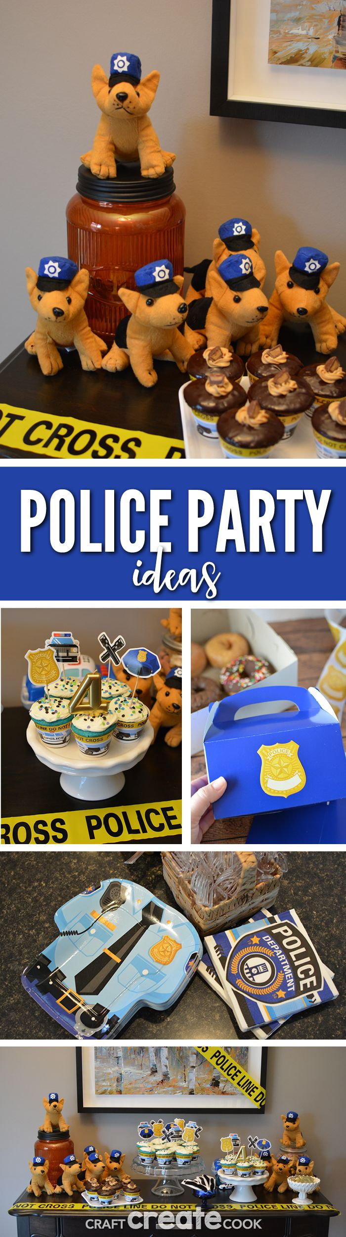 Looking for police birthday party ideas? We've got an easy and fun place for all your party ideas! #ad #orientaltrading     via @CraftCreatCook1