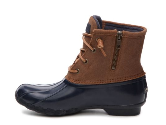 Size 8 Holiday Promotion Price Women Cognac/Navy Black Sperry Top-Sider Sweetwater Duck Boot Shoes 677338318666