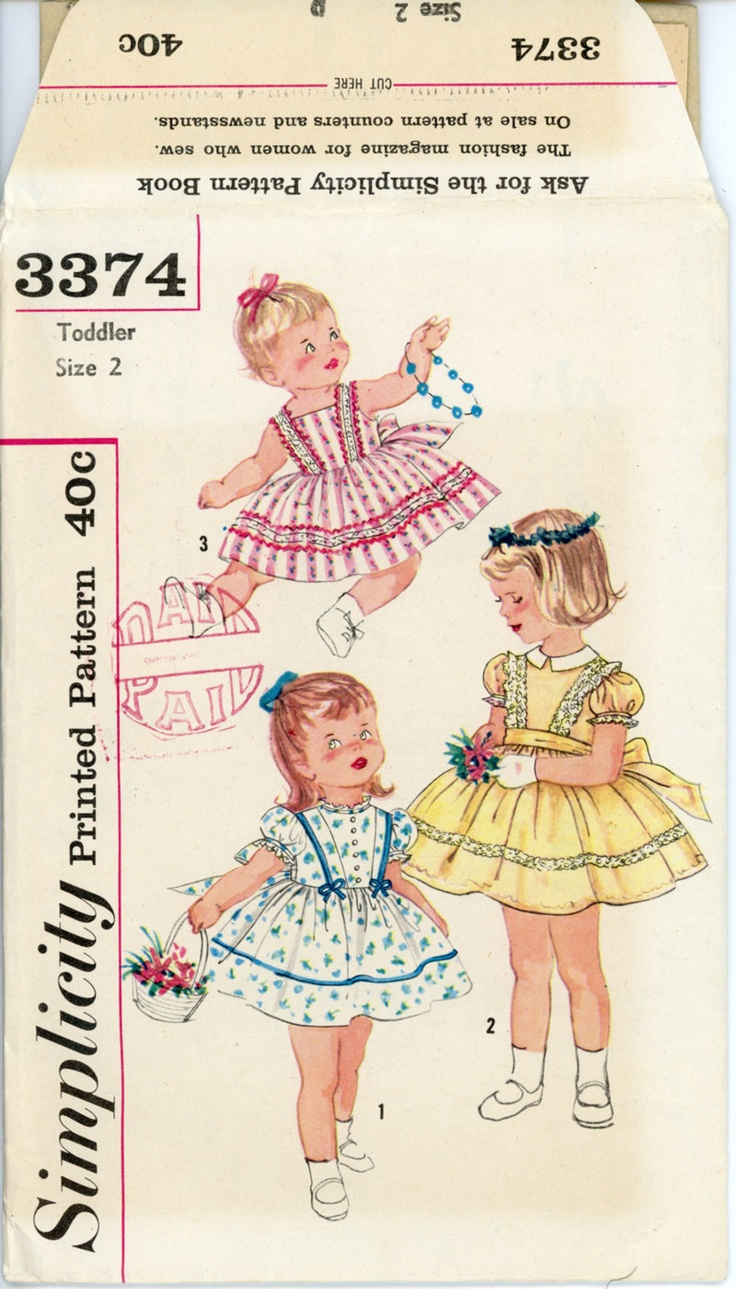 805 best images on pinterest vintage sewing vintage toddlers dress pattern simplicity 3374 1960s breast 21 full skirt party sun dress childrens vintage sewing pattern uncut jeuxipadfo Gallery
