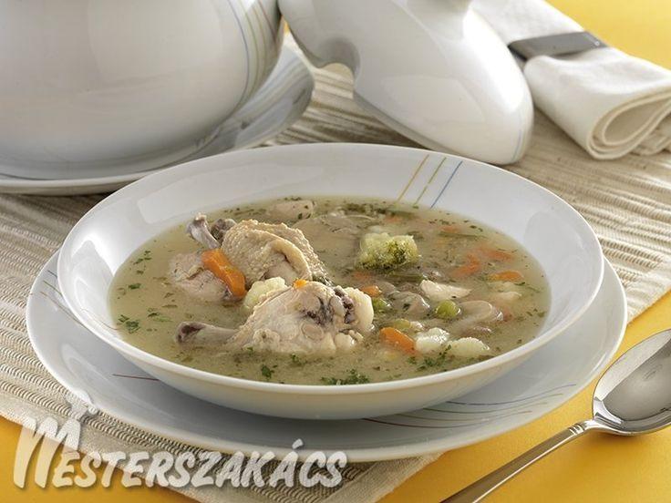 Csirkeaprólék-leves  sok zöldséggel recept
