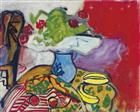 Still life of fruit and flowers on a table - Robert De Niro, Sr.