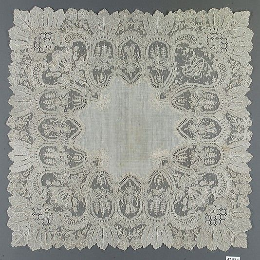 Handkerchief in Needle Lace 1860-1880