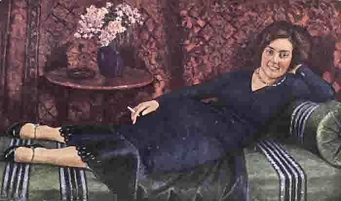 Игорь Эммануилович Грабарь (1871-1960) - Портрет К.Медовой, 1932