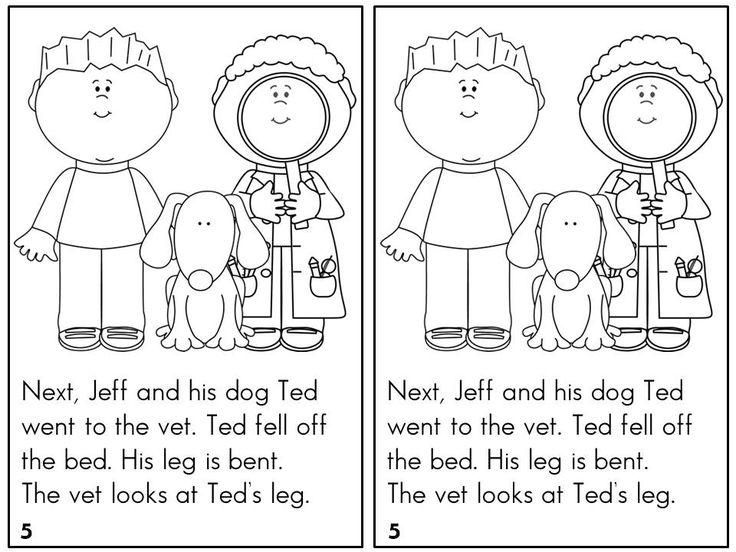 Short e coloring pages
