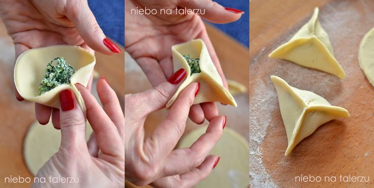 niebo na talerzu: Pierogi ze szpinakiem. Pierogi z serem i szpinakiem