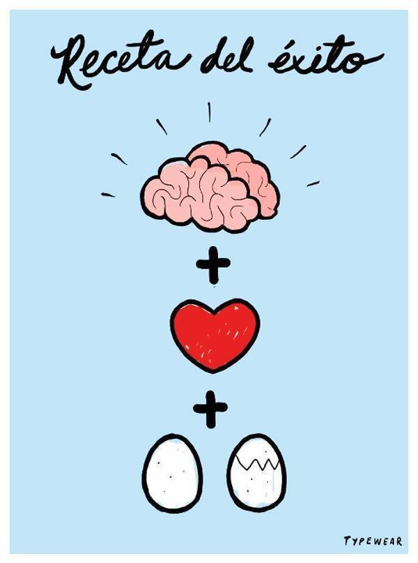 Receta del éxito! Mejor ilustración que esta no creo que exista. #redessociales #socialmedia #inspiracion