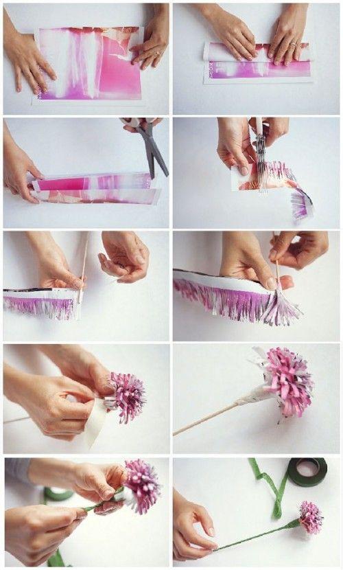 Papieren bloemen maken voor bijvoorbeeld moederdag