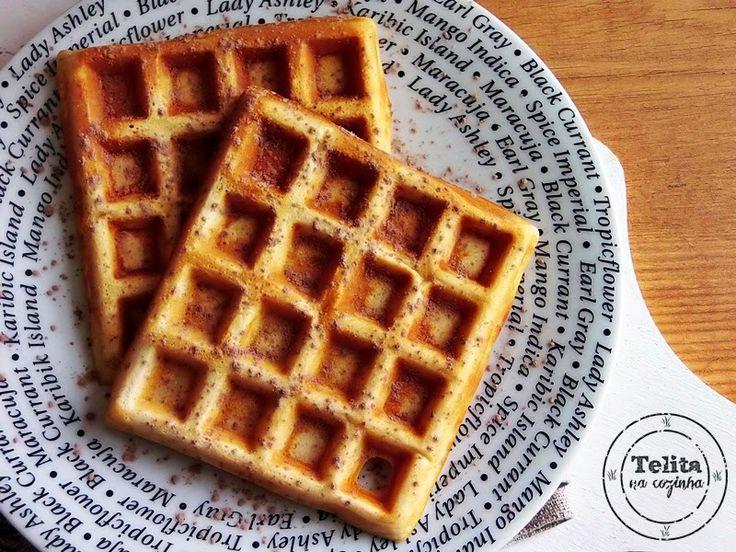 Telita na Cozinha: waffles para o pequeno-almoço