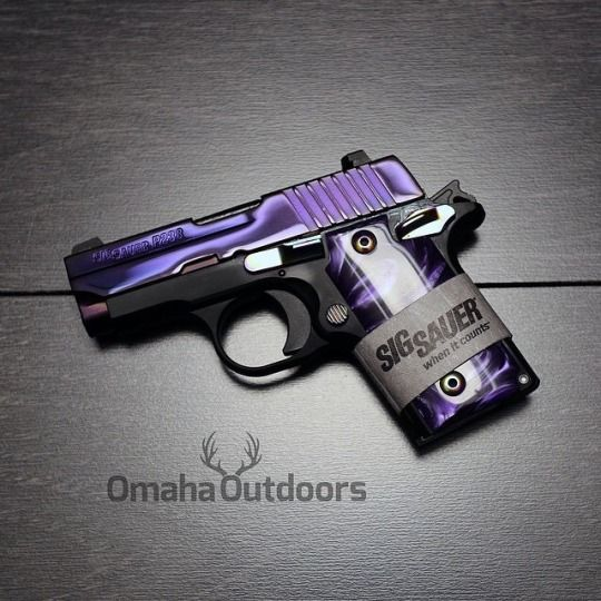 GunFanatics Brand new Sig Sauer P238 PSP 380 ACP with purple pvd coated slides. P238 comes with pearl grips and One 6 round magazine. $599