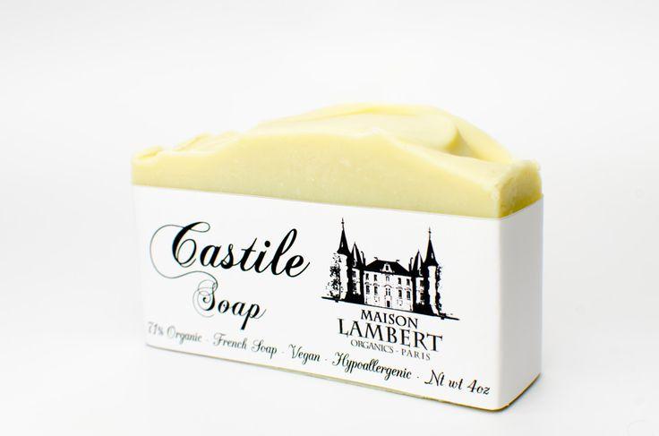 ORGANIC Castile Soap - Hypoallergenic soap - Handmade Soap, Vegan Soap, Senstative Skin Soap, Unscented Soap, All Natural Soap by MaisonLambert on Etsy