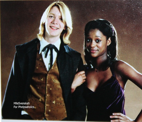 Fred and Angelina at the Yule Ball.