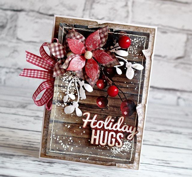 My Sunny Place...Christmas holiday vintage shabby card