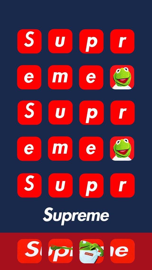 2019 年のsupreme Kermit Wallpaper アップル アディダス ナイキ