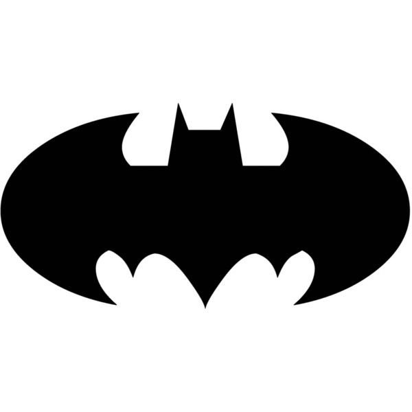 BATMAN SYMBOL ❤ liked on Polyvore featuring fillers, batman, backgrounds, black and black fillers