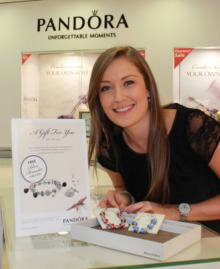Claire with some of our beautiful Pandora bracelets at Matthew Stephens Jewellers - The Diamond Specialists