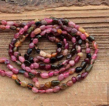 Для украшений ручной работы. Ярмарка Мастеров - ручная работа. Купить Турмалин мульти нить 10 см галтовка бусины камни для украшений. Handmade.