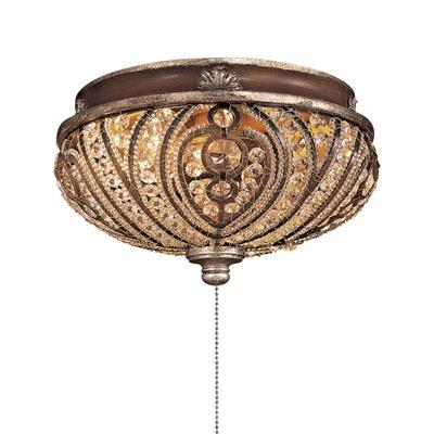 Minka Aire Two Light Crystal Cut Detail Universal Ceiling Fan Light Kit