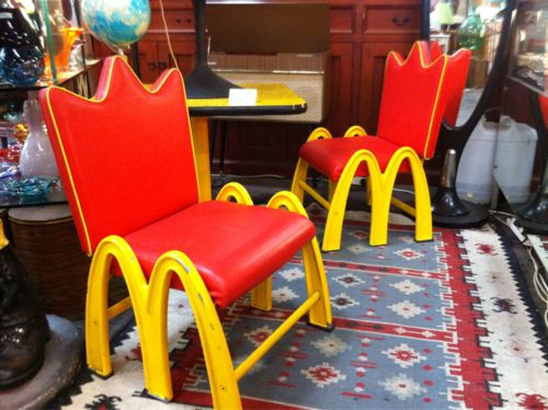 Vintage McDonalds Furniture Found At The Mitchell Rd Antique And Design