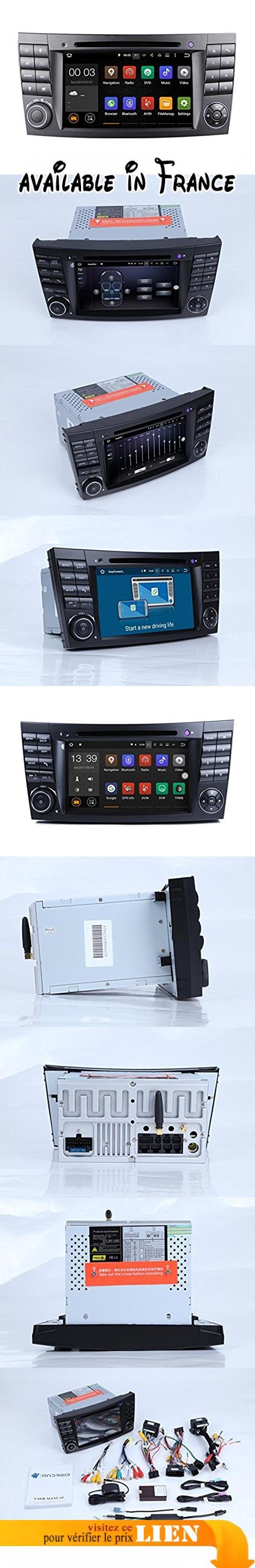 Générique Système Multimédia Autoradio pour Mercedes-Benz Classe E W211 (E200,E220,E240,E270,E280,E300,E320,E350,E400,E420,E55,E500) (2002 à 2008) avec Ecran 7 pouces/18 cm tactile, DVD/CD, tuner RDS, Bluetooth, USB et entrée Auxiliaire. Taille de montage standard DIN 2, écran tactile 7 pouces Prise en charge de plusieurs langues OSD.. Avec système d'exploitation Android 7.1, mémoire RAM DDR3 2 Go et mémoire interne de 16 Go.. Avec le processeur CPU avec 4 Core
